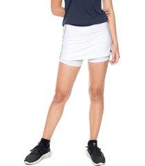 falda short blanco-negro nike dry skirt str game