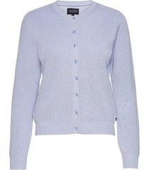 alina cashmere blend knitted cardigan stickad tröja cardigan blå lexington clothing