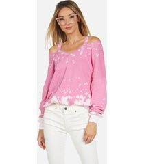 swanson le pink acid pullover - pink acid m