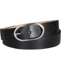 calvin klein women's oval center bar buckle dress belt