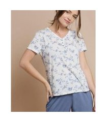 pijama marisa estampa floral feminino