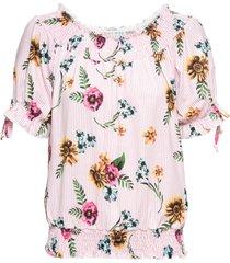 maglia con spalle scoperte (rosa) - rainbow