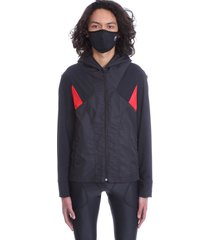marine serre sweatshirt in black polyamide