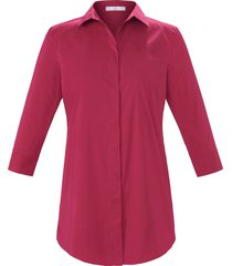 lange blouse met 3/4-mouwe van emilia lay roze