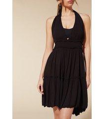 calzedonia fabric mini dress woman black size tu