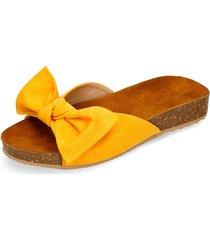 sandalias amarillo bata hela mujer