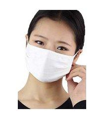 máscara de tecido lavável máxima proteção slim fitness branco + munhequeira