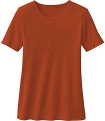 biokatoenen shirt met ronde hals, papaja 34
