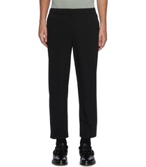 mid waist zipped hem crop pants