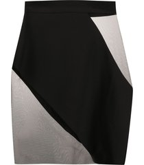 loulou sheer contrast mini skirt - black