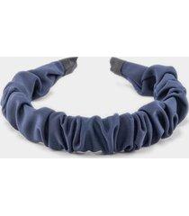 laurel gathered headband in navy - navy