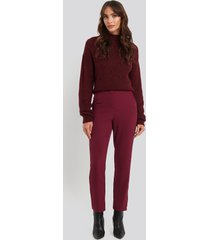 na-kd classic high waist suit trousers - red