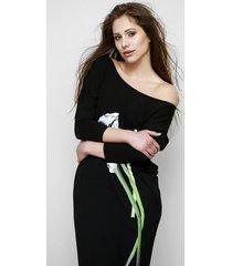 czarna sukienka kalia w kwiatowy print