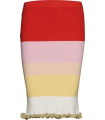 alma-sk knälång kjol rosa storm & marie