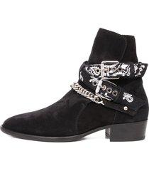 amiri bandana buckle boot black