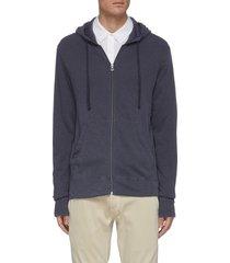'vintage' zip front hoodie