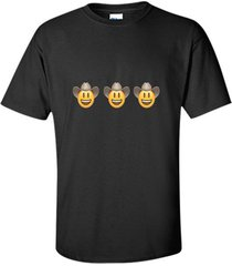 cowboy emoji  hat rodeo horse western texas yeehaw t-shirt men