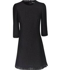 dolce & gabbana fringed bottom mid-length dress