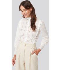 mango ceci blouse - white