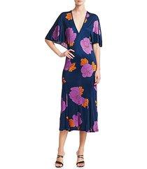 valerie floral jersey midi dress