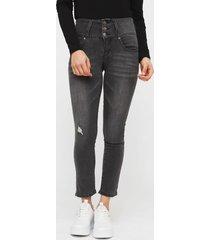 jeans il gioco megan gris - calce ajustado