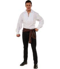 buyseasons men's white lace up adult pirate shirt