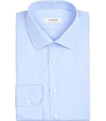 camicia da uomo su misura, canclini, azzurra microdesign, quattro stagioni | lanieri