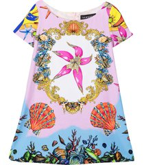 young versace multicolor print dress