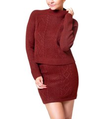 wynter cable-knit mini sweater skirt