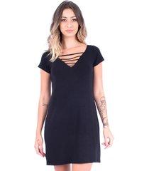 vestido up side wear tiras preto