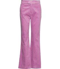 trousers broek met wijde pijpen roze noa noa
