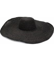 ibeliv oversized woven sun hat - black