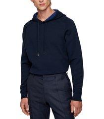 boss men's hooded cotton wool sweatshirt