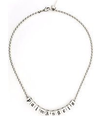 palm angels woman logo necklace