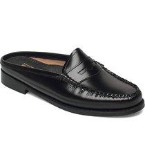 gh weejun wmn penny slide loafers låga skor svart g.h. bass