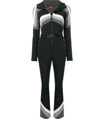 perfect moment tignes hooded jumpsuit - black