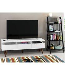 rack para tv atã© 65 polegadas madesa londres e estante escada branco - branco - dafiti