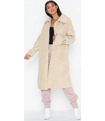 missguided long line borg coat faux fur