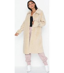 missguided long line borg coat faux fur