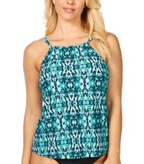 island escape zuma beach cali printed underwire tankini, created for macy's women's swimsuit