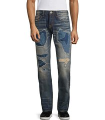 greaser distressed slim straight jeans