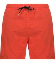 mcq alexander mcqueen drawstring waist swim shorts - orange