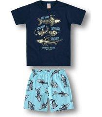 pijama marisol - 10316387i azul - kanui