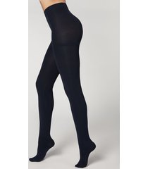 calzedonia thermal super opaque tights woman blue size 4