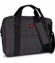 maletin para laptop swissbrand gleather briefcase-gris