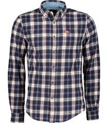 superdry overhemd - slim fit - blauw