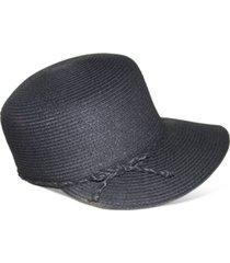 nine west black packable classic braid framer hat