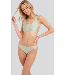 na-kd swimwear sporty bikini briefs - green