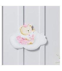 adesivo parede amiguinha ursa princesa 16,5cm gráo de gente rosa