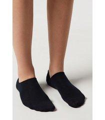 calzedonia unisex cotton no-show socks man blue size 46-47